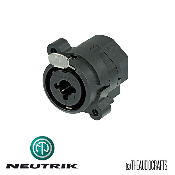neutrik ncj6fi s combo connector xlr 1 4 stereo jack nonswitching. Black Bedroom Furniture Sets. Home Design Ideas